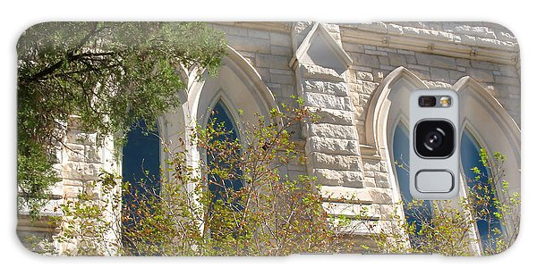 Gothic Windows - Austin Texas Church Galaxy Case by Connie Fox