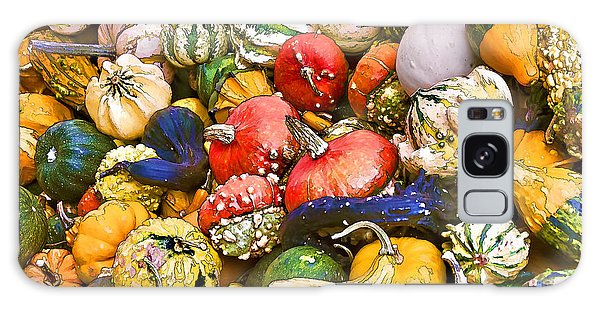 Gourds And Pumpkins At The Farmers Market Galaxy Case by Peggy Collins