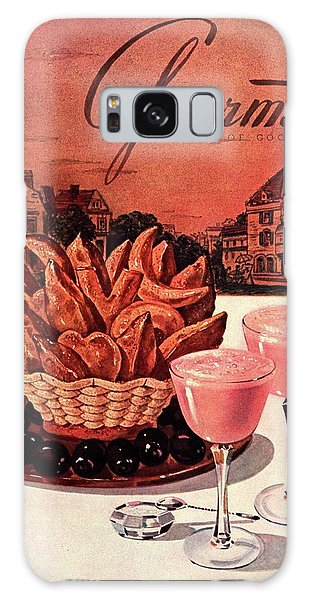Gourmet Cover Featuring A Basket Of Potato Curls Galaxy Case