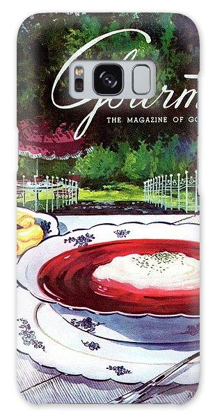 Gourmet Cover Featuring A Bowl Of Borsch Galaxy Case