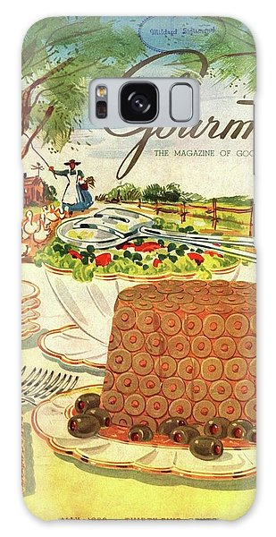 Gourmet Cover Featuring A Buffet Farm Scene Galaxy Case