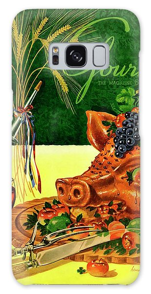 Gourmet Cover Featuring A Pig's Head On A Platter Galaxy Case