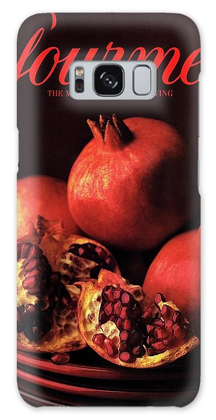 Gourmet Cover Featuring A Plate Of Pomegranates Galaxy Case