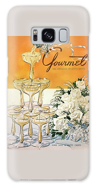 Gourmet Cover Featuring A Pyramid Of Champagne Galaxy Case