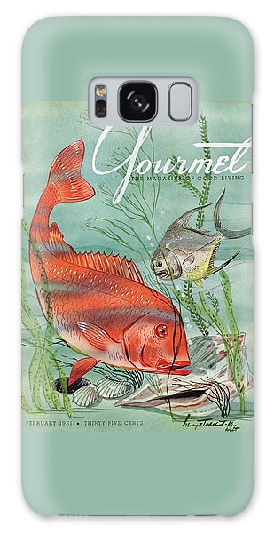 Gourmet Cover Featuring A Snapper And Pompano Galaxy Case