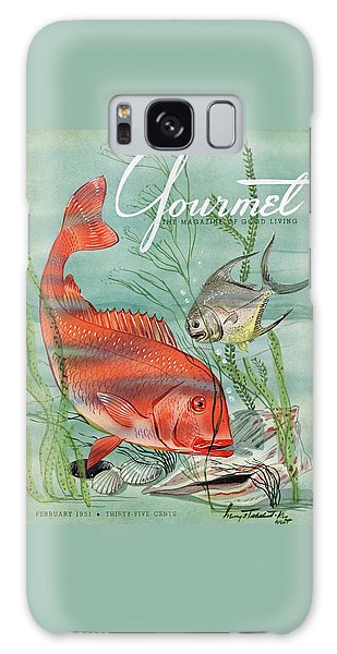 Gourmet Cover Featuring A Snapper And Pompano Galaxy Case by Henry Stahlhut