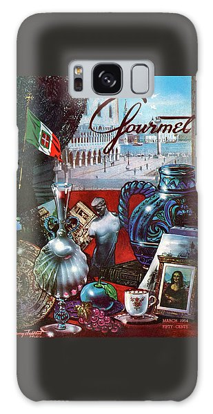Gourmet Cover Featuring A Variety Of Italian Galaxy Case