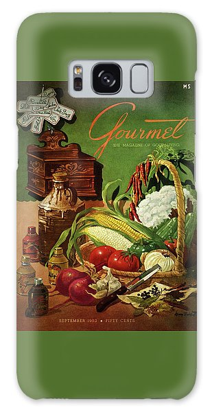 Gourmet Cover Featuring A Variety Of Vegetables Galaxy Case by Henry Stahlhut