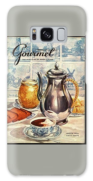 Gourmet Cover Featuring An Illustration Galaxy Case