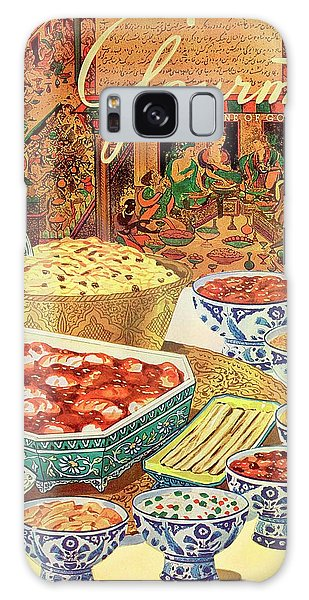 Gourmet Cover Featuring Various Indian Dishes Galaxy Case
