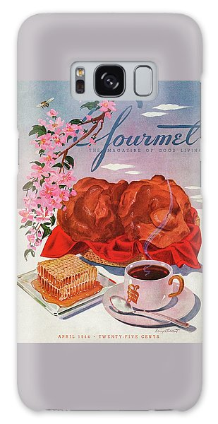 Gourmet Cover Illustration Of A Basket Of Popovers Galaxy Case
