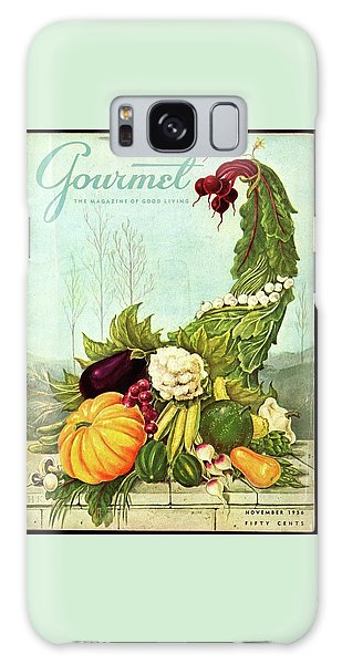 Magazine Cover Galaxy Case - Gourmet Cover Illustration Of A Cornucopia by Hilary Knight