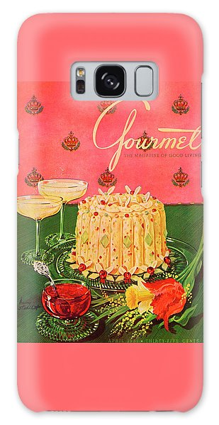 Magazine Cover Galaxy Case - Gourmet Cover Illustration Of A Molded Rice by Henry Stahlhut