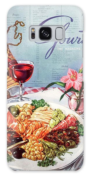 Gourmet Cover Illustration Of A Plate Of Antipasto Galaxy Case