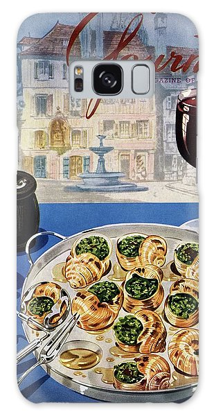 Gourmet Cover Illustration Of A Platter Galaxy Case