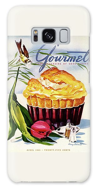 Gourmet Cover Illustration Of A Souffle And Tulip Galaxy Case