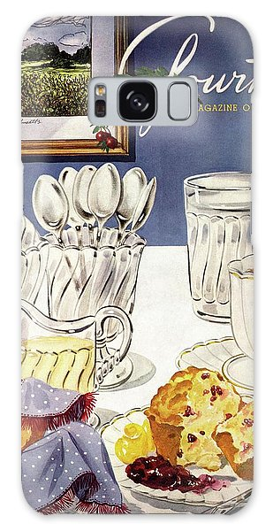 Gourmet Cover Illustration Of Cranberry Muffins Galaxy Case