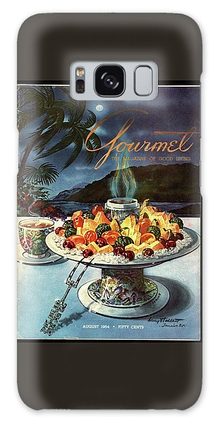 Magazine Cover Galaxy Case - Gourmet Cover Illustration Of Fruit Dish by Henry Stahlhut