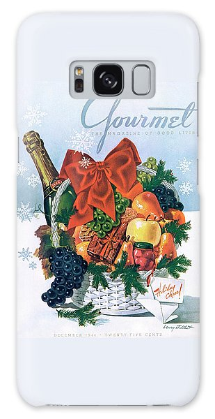 Gourmet Cover Illustration Of Holiday Fruit Basket Galaxy Case