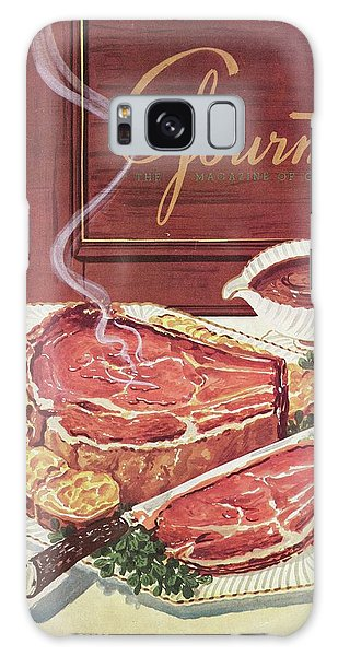 Gourmet Cover Of A Roast Beef Galaxy Case