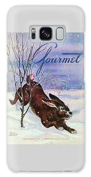 Gourmet Cover Of A Rabbit On Snow Galaxy Case