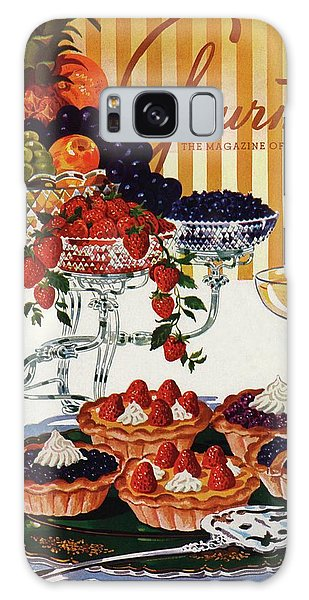 Gourmet Cover Of Fruit Tarts Galaxy Case