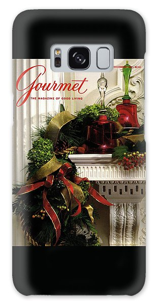 Magazine Cover Galaxy Case - Gourmet Magazine Cover Featuring Christmas Garland by Romulo Yanes