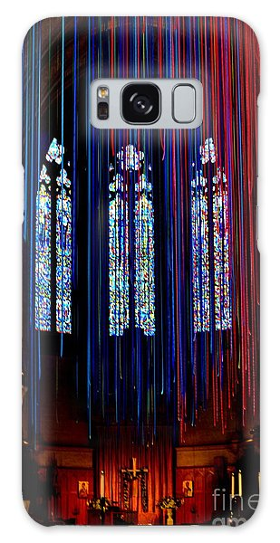 Grace Cathedral With Ribbons Galaxy Case by Dean Ferreira