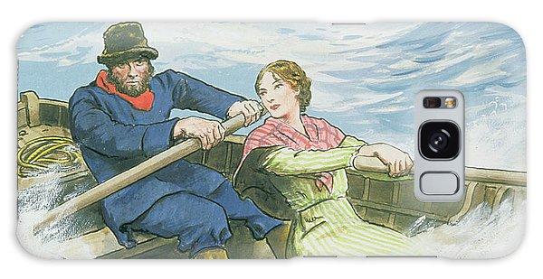 Shipwreck Galaxy Case - Grace Darling And Her Father Rescuing by Trelleek