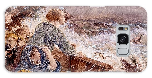 Shipwreck Galaxy Case - Grace Darling And Her Father Saving by William Bell Scott