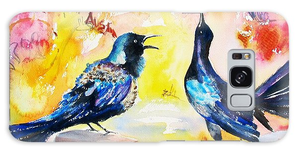 Grackles And Graffiti  Galaxy Case