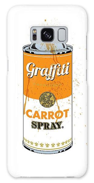 Graffiti Carrot Spray Can Galaxy Case