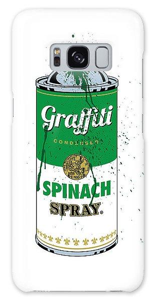 Graffiti Spinach Spray Can Galaxy Case
