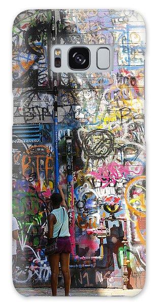 Graffiti Wall Watchers Galaxy Case