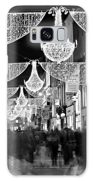 Galaxy Case featuring the photograph Grafton Street At Christmas / Dublin by Barry O Carroll
