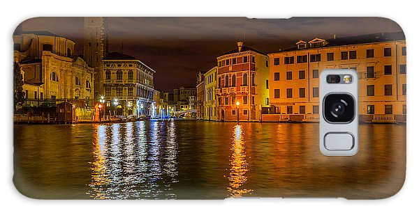 Grand Canal In Venice At Night Galaxy Case