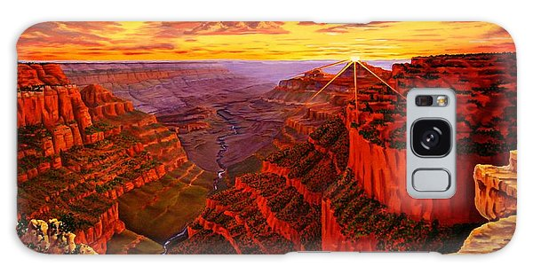 Grand Canyon At Sunset Galaxy Case