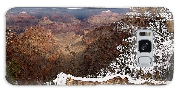 Galaxy Case featuring the photograph Grand Canyon In Winter by Brad Brizek