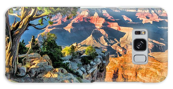 Galaxy Case featuring the painting Grand Canyon Ledge by Christopher Arndt