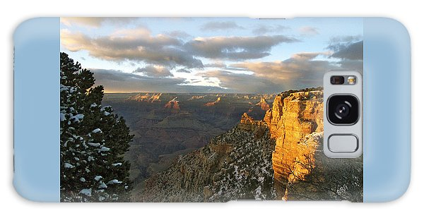 Grand Canyon. Winter Sunset Galaxy Case by Ben and Raisa Gertsberg