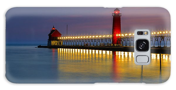 Grand Haven South Pier Lighthouse Galaxy Case