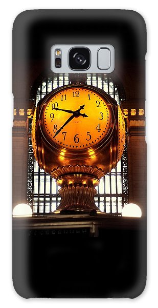 Grand Old Clock At Grand Central Station - Front Galaxy Case by Miriam Danar