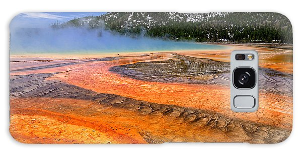 Grand Prismatic Spring Boardwalk View Galaxy Case