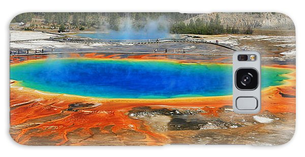 Grand Prismatic Spring Galaxy Case by Clare VanderVeen