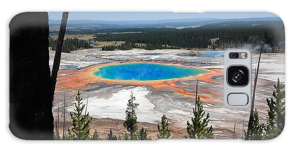 Grand Prismatic Spring From Hillside Galaxy Case