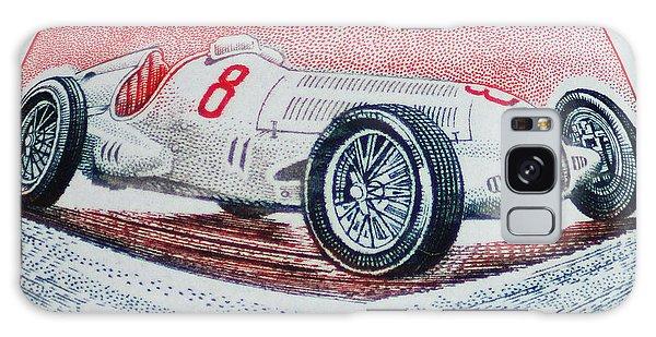 Grand Prix De Monaco 1936 Vintage Postage Stamp Print Galaxy Case