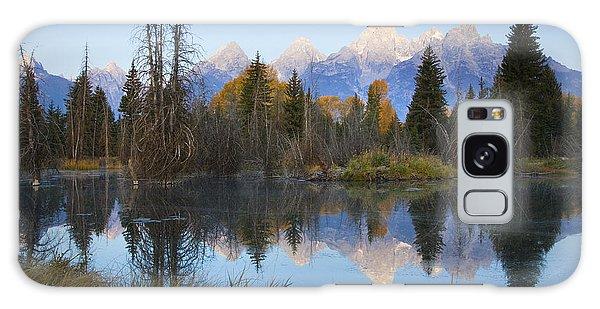 Grand Teton Morning Reflection Galaxy Case by Sonya Lang
