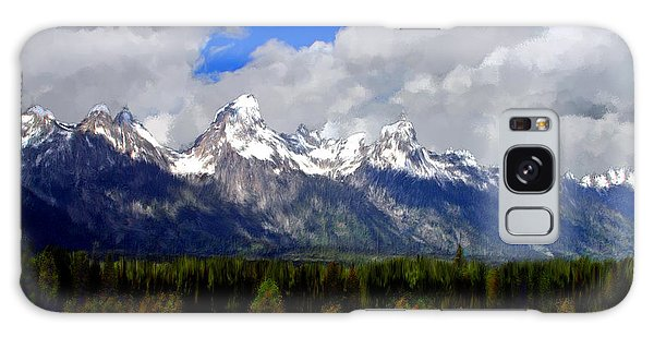 Grand Teton Mountains Galaxy Case