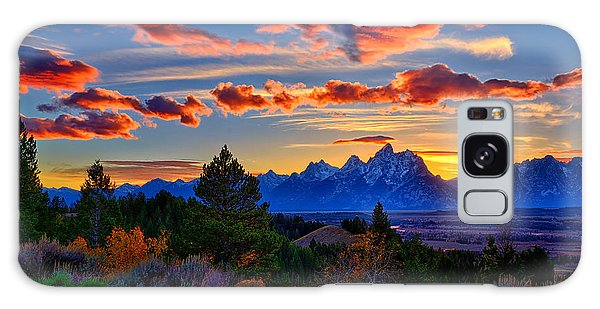 Grand Teton Sunset Galaxy Case