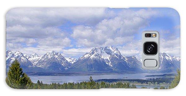 Teton Range Galaxy Case - Grand Tetons Over Jackson Lake Panorama 2 by Brian Harig
